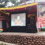 Live Screening of Shri Modi's speech at Bugle Rock Park in Bengaluru